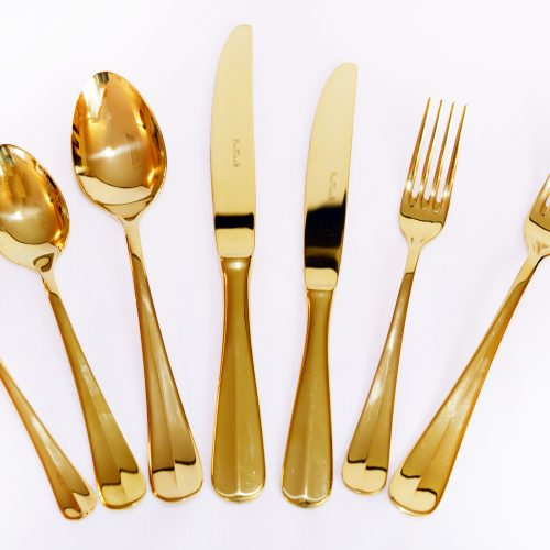 Gold cutlery for hire