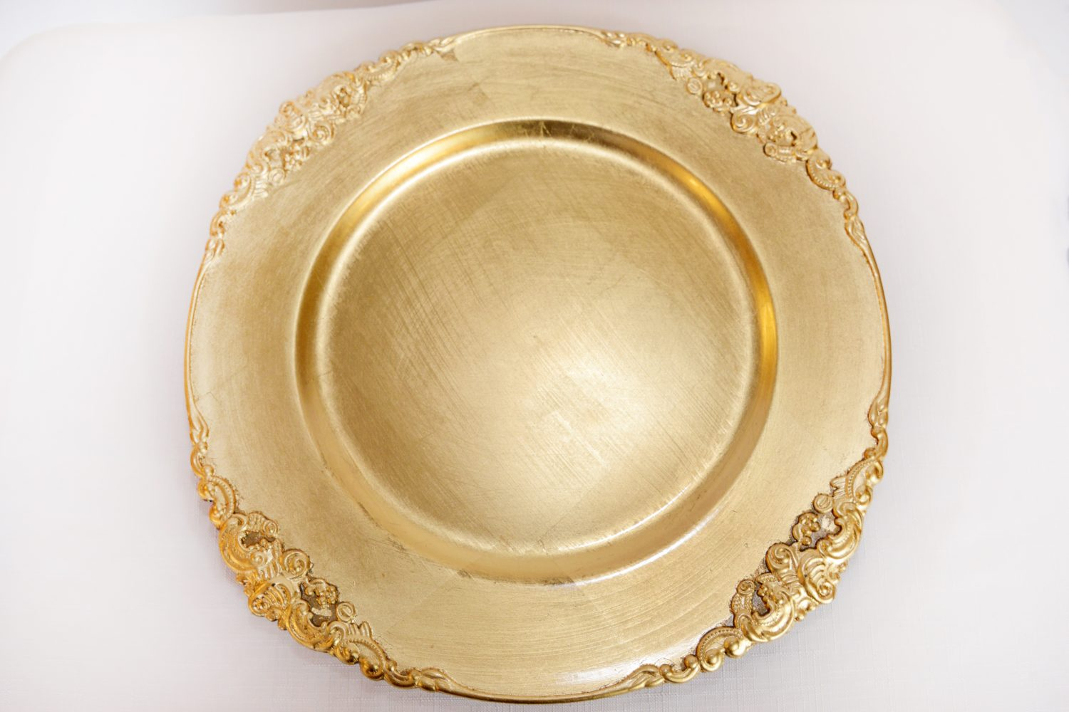 Gold Ornate Charger Plate Keeping It Vintage