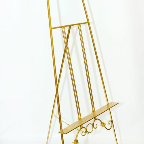 Metal gold ornate easel