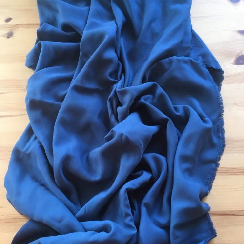 blue silk runner